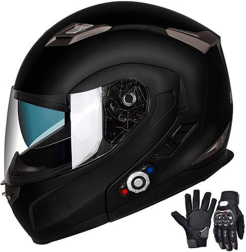 FreedConn Bluetooth Integrated Modular Flip-up Full Face Motorcycle Helmet