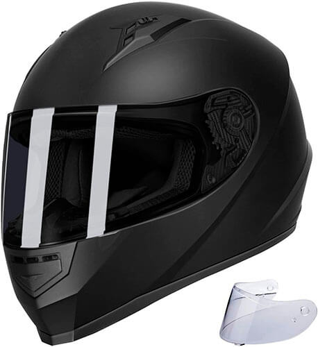 GLX Unisex-Adult GX11 Compact Lightweight Full Face Motorcycle Street Bike Helmet with Extra Tinted Visor