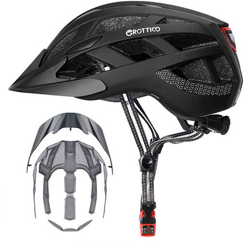GROTTICO Adult-Men-Women Bike Helmet with Light