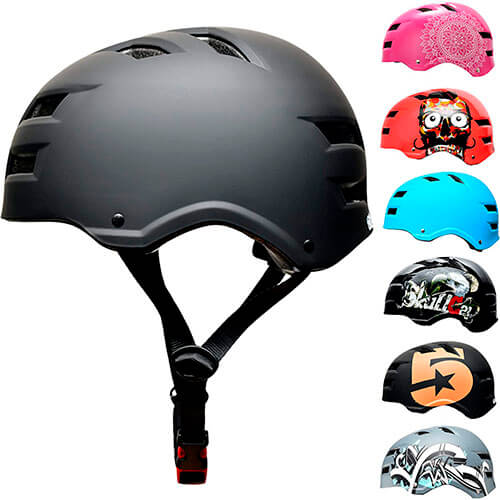 SC Skateboard & BMX Bike Helmet for Kids & Adults