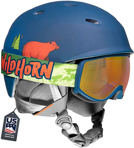 Wildhorn Spire Snow & Ski Helmet with Goggles for Kids and Youth