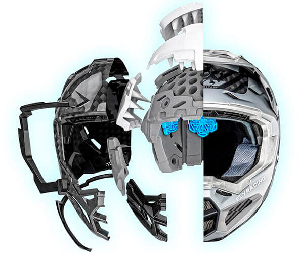 What Are Motorcycle Helmets Made Of?