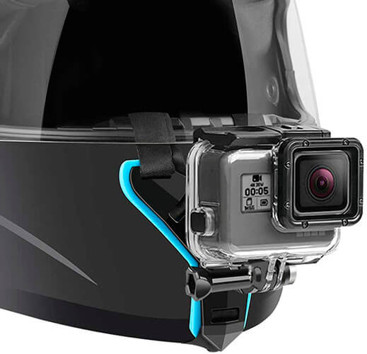 Lupholue Motorcycle Helmet Chin Strap Mount for GoPro