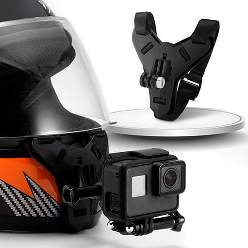 Motorcycle Helmet Chin Strap Mount Non-Slip & Shockproof Design for GoPro