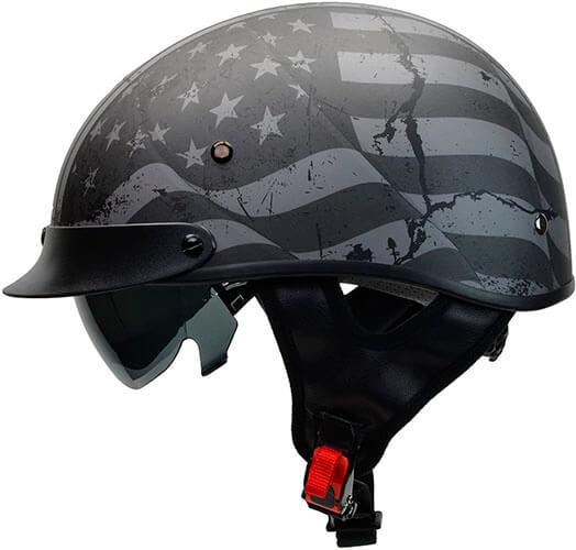 Vega Warrior Motorcycle Half Helmet